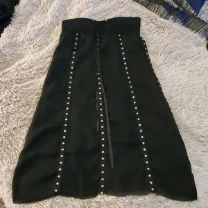 Black w/silver accents Patricia woods skirt
